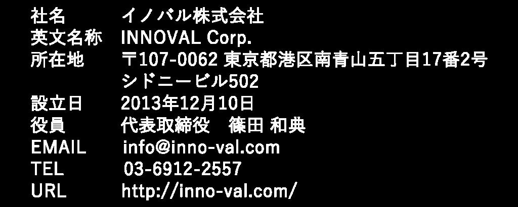 イノバル株式会社 | INNOVAL